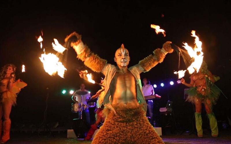 performance animal y fuegos