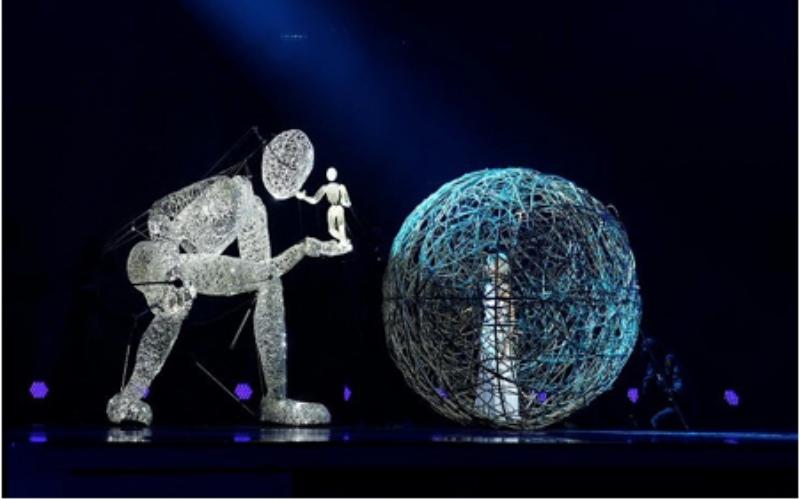 marioneta gigantes y performances