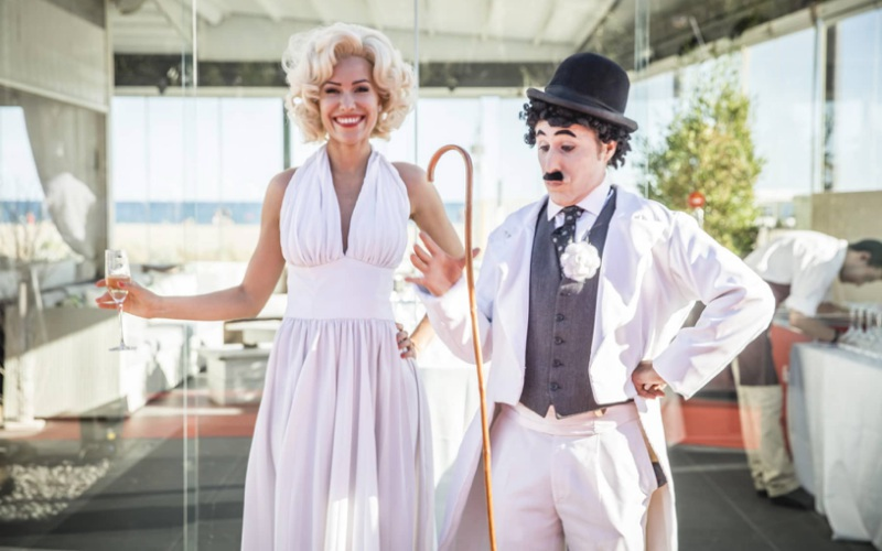 performance marylin monroe y charles chaplin