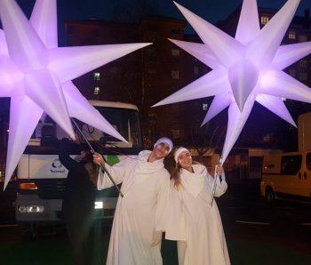 performance con estrella ilumindas