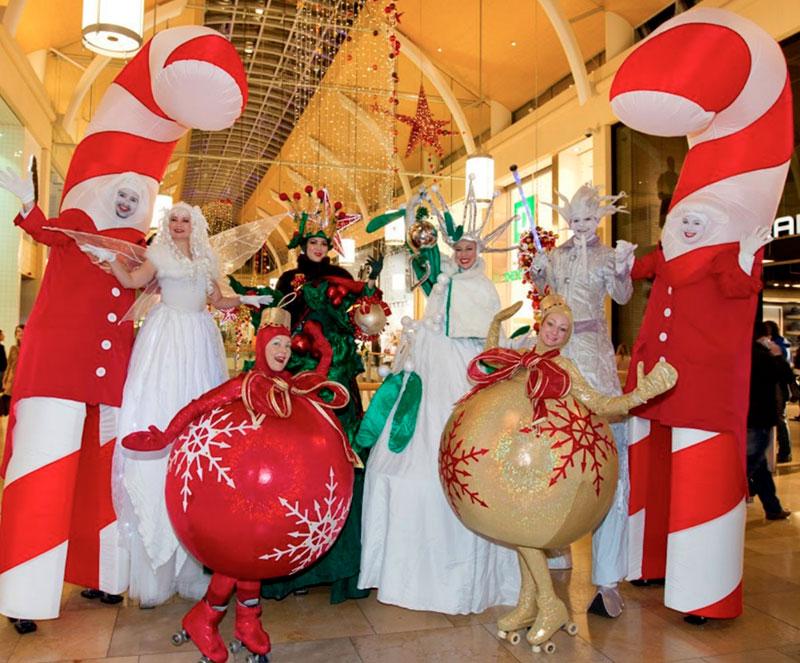 zancudos y performances de navidad