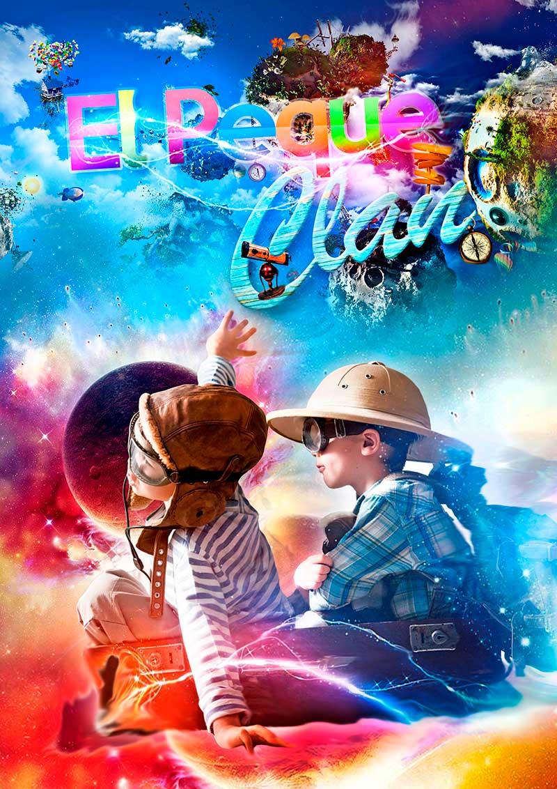 cartel de pareja de chicos disfrazados