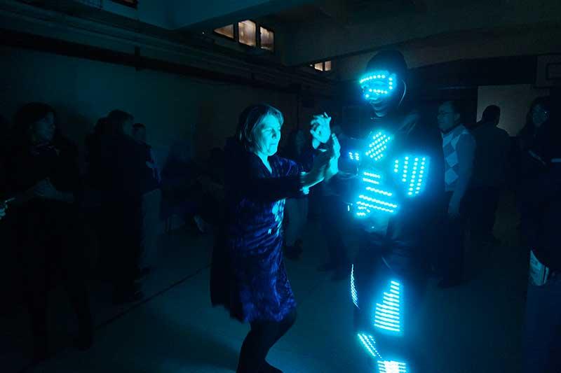 robot con led