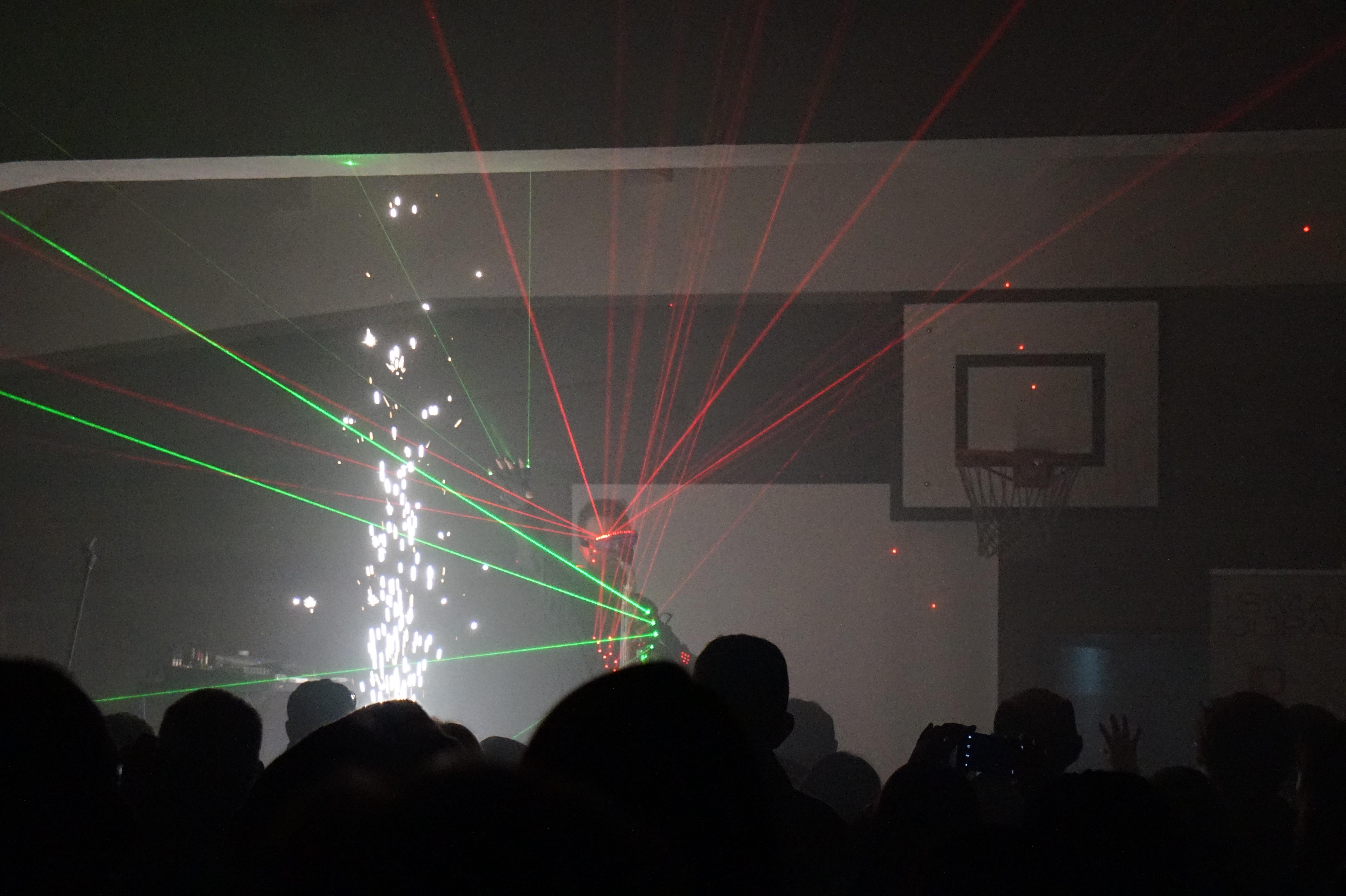 laser en la cancha