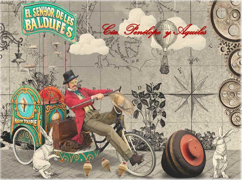 señor con bici trineo