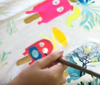 pintura de comecocos