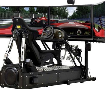 simulador con tres pantallas