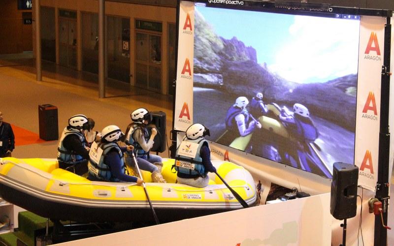 simulador rafting 3d con pantalla gigante