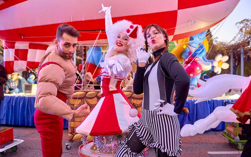 tres performance de circo