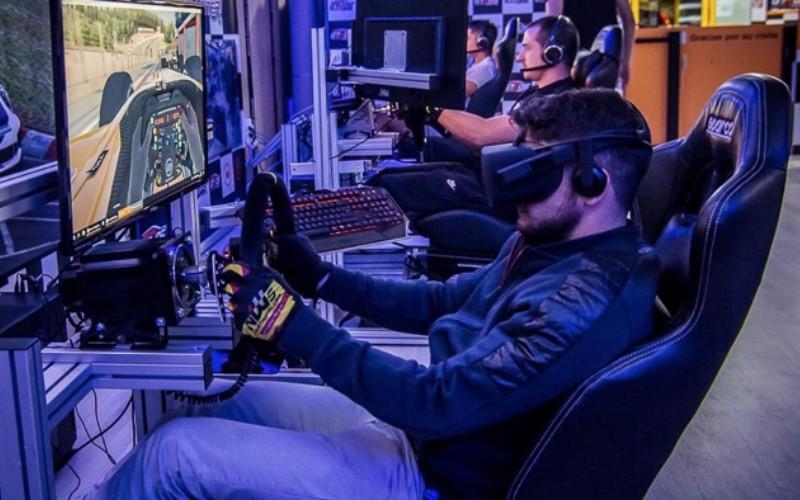 simulador de f1 con gafas 3d