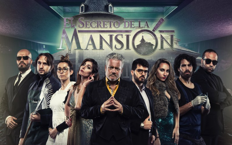 cartel personajes en el secreto de la mansion