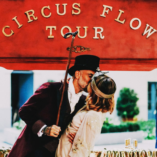 Temática de Circus Flow Tour para Boda