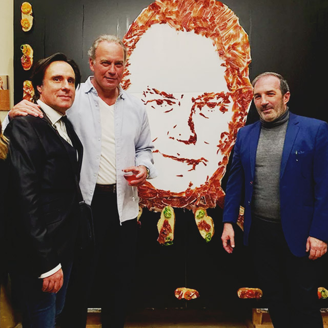 ARTE CON JAMÓN, retratos de jamón por DIEGO ZAPPA