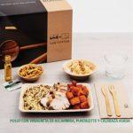 Kit Lunch. Menú B: Pollo con vinagreta de alcaparra, puntalette y calabaza asada