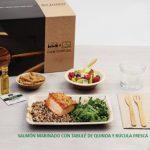 Kit Lunch. Menú C: Salmón Marinado con Tabulé de quinoa y rúcula Fresca