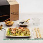Kit Lunch. Menú D: Ensalada templada de Cous cous y langostinos marinados