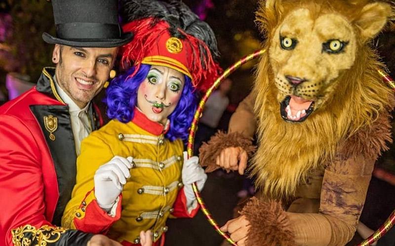 Temática de comunión de circo