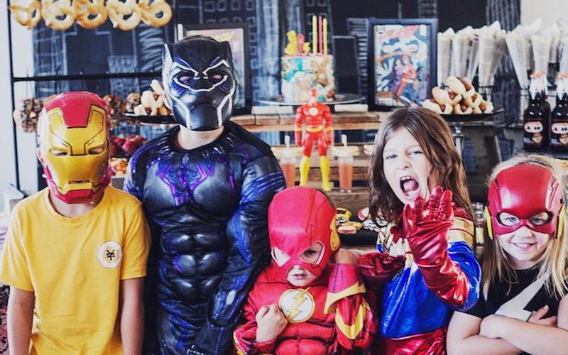 Temática de comunión de Superhéroes
