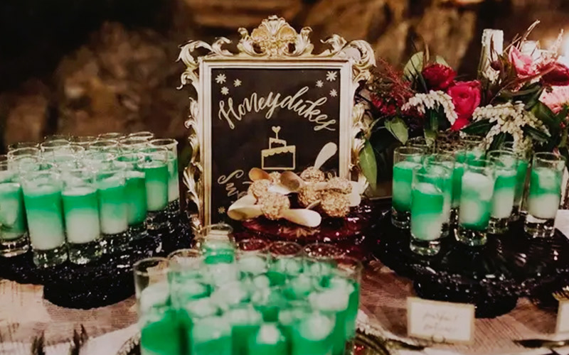 catering temática de boda harry potter