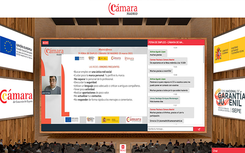 Feria Virtual de Empleo CÁMARA MADRID