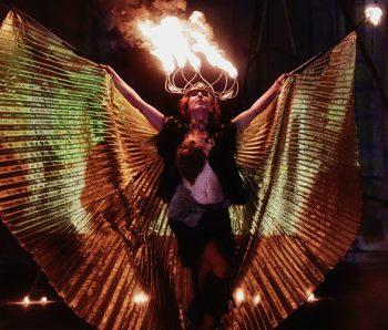 Animal Flames, Espectáculo de fuego y danza