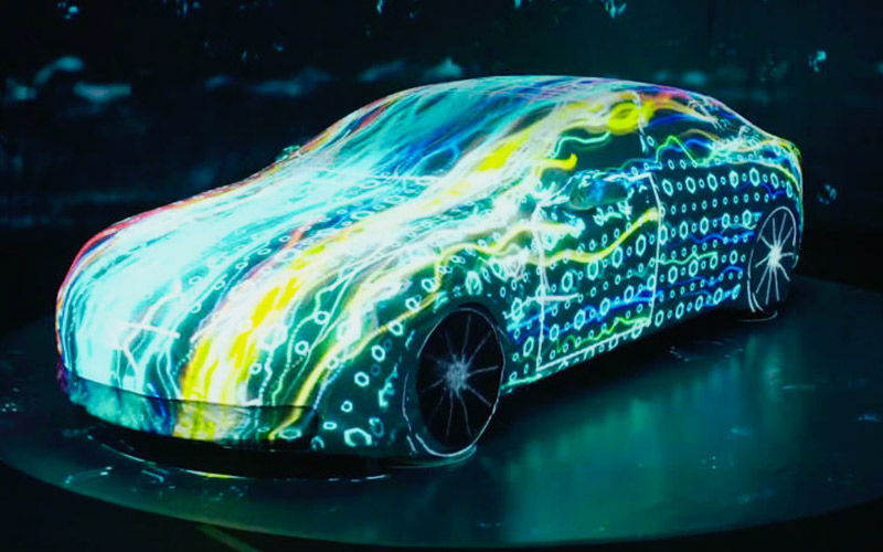 Videomapping sobre coches