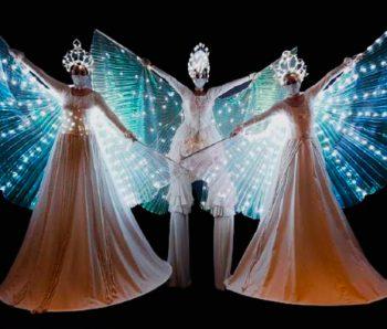 Resilencia. show de danza, luces y video mapping