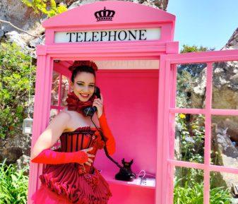 Cabina de Teléfono vintage + Teléfono contestador